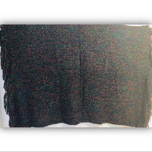 KNITTED 🧶 Oversized w/Tassel Fringe Throw (Multi)